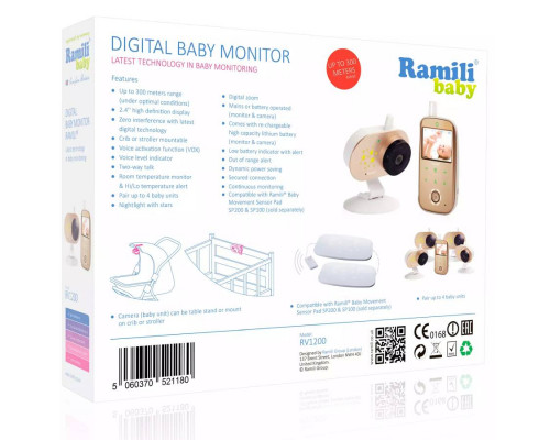 Видеоняня с тремя камерами Ramili Baby RV1200X3