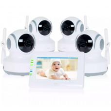 Видеоняня с 4 камерами Ramili Baby RV900X4
